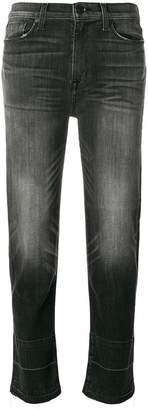 Hudson faded cropped jeans