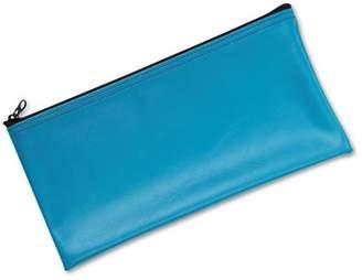 MMF Industries Leatherette Zippered Wallet, Leather-Like Vinyl, 11w x 6h, Marine Blue -MMF2340416W38