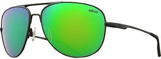 Revo Windspeed Polarized Sunglasses - Serilium Lens Matte Black/Green Water One $99.50 thestylecure.com