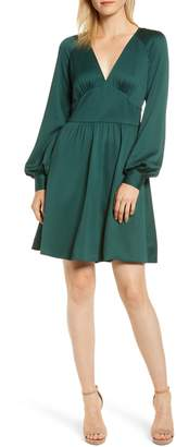 MICHAEL Michael Kors Raglan Sleeve V-Neck Dress