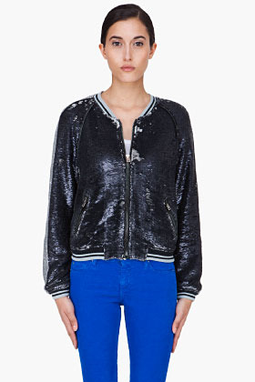 IRO Black and silver Queeny Sequin Jacket