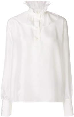 Victoria Beckham Ruffle neck blouse