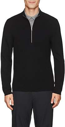 Theory Men's Detroe Merino Wool Half-Zip Sweater - Black