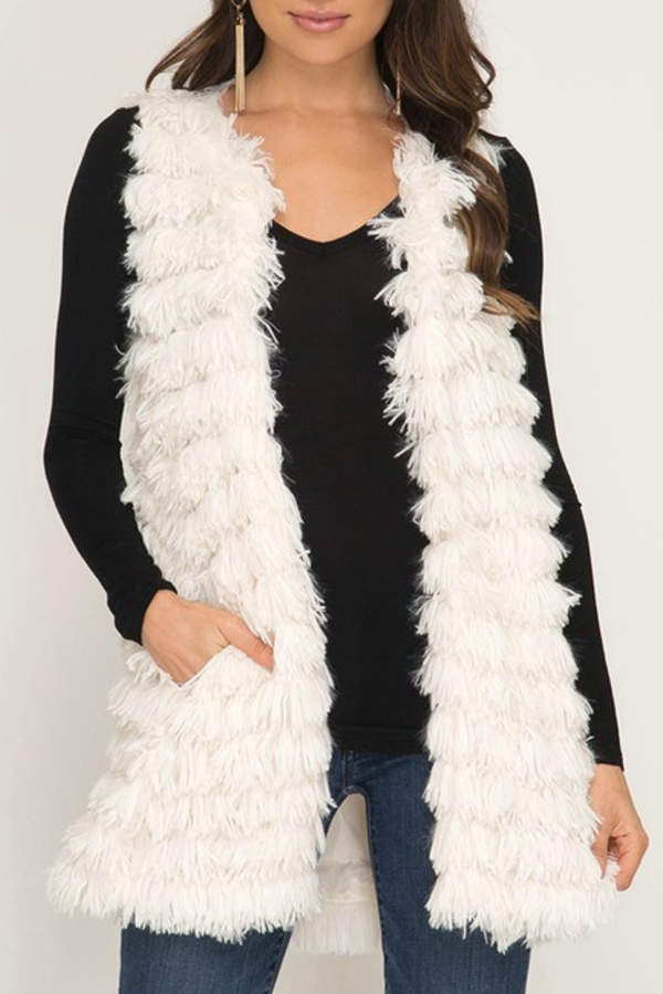 She + Sky Faux Fur Vest