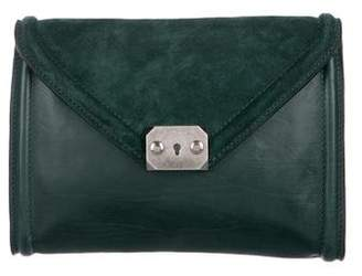 Boyy Suede & Leather Flap Clutch