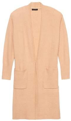 Banana Republic Petite Plush Wool-Blend Duster Cardigan Sweater