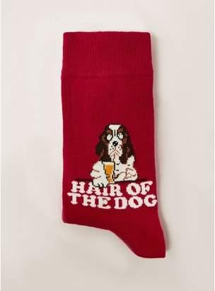 Topman Mens Red 'Hair Of The Dog' Socks