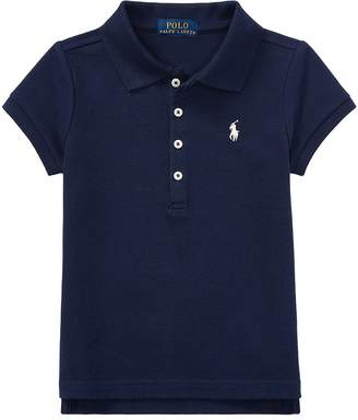 Polo Ralph Lauren Short Sleeve Mesh Polo Shirt Girl's Short Sleeve Knit