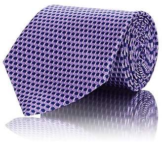 Ermenegildo Zegna Men's Geometric-Circle-Print Silk Satin Necktie