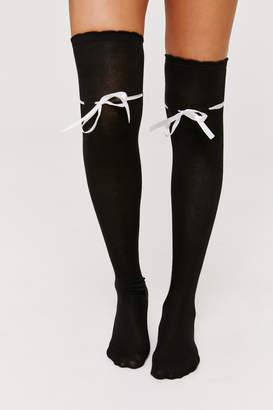 Ardene Ribbon Over The Knee Socks
