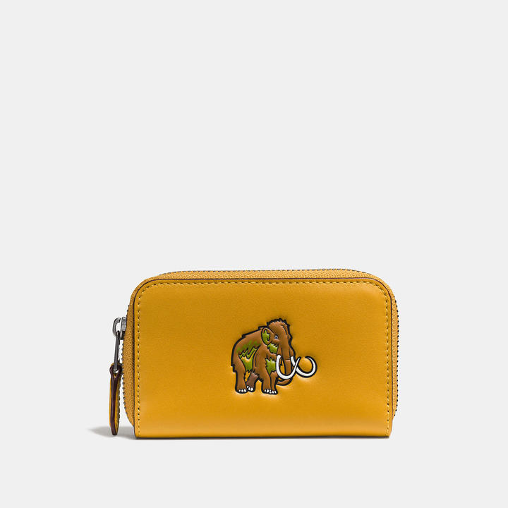 Coach  COACH Coach Embossed Small Zip Case In Glovetanned Leather
