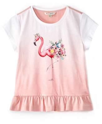 Yumi Girls Flamingo Print Tee