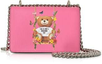 Moschino Teddy Bear Pink Eco Leather Crossbody Bag