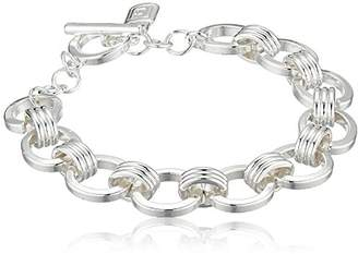 Chaps Women's Chain Link Toggle Flex Link Bracelet