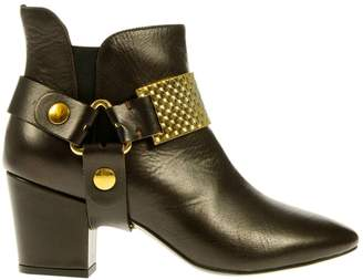 Just Cavalli Brown Leather Boots