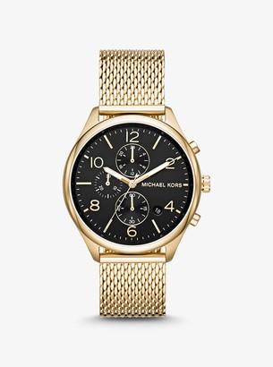 Michael Kors Merrick Gold-Tone Mesh Watch