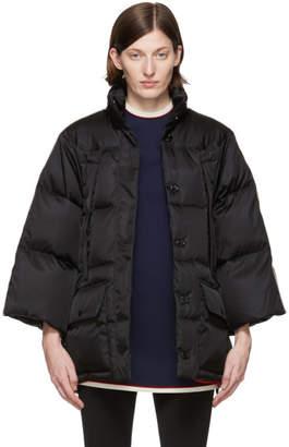 Gucci Black Down Stripe Cape Jacket