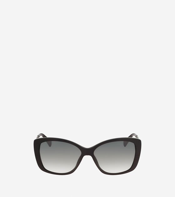 Cole Haan Cat Eye Sunglasses With Leather