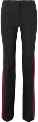 Alexander McQueen Wool And Silk-blend Bootcut Pants - Black