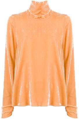 Forte Forte turtleneck velvet blouse