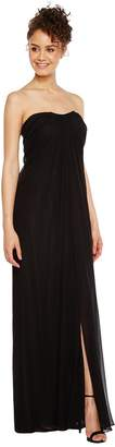 Aidan Mattox Strapless Shirred Chiffon Gown Women's Dress