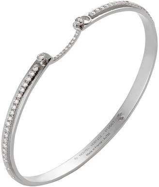 Nouvel Heritage Diamond Tuxedo Bangle Bracelet - White Gold