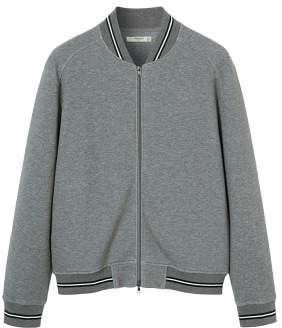 MANGO Flecked cotton college bomber