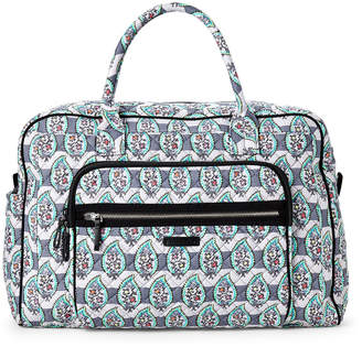 Vera Bradley Paisley Stripes Iconic Weekender Travel Bag