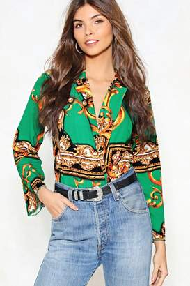 Nasty Gal Your Future Looks Bright Scarf Bodysuit
