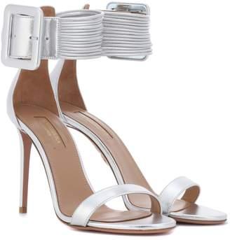 Aquazzura Casablanca 105 leather sandals