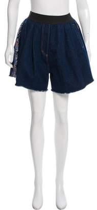 Natasha Zinko Paneled Denim Shorts