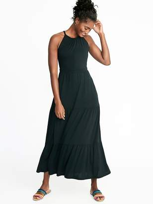 Old Navy High-Neck Waist-Defined Maxi Dress for Women