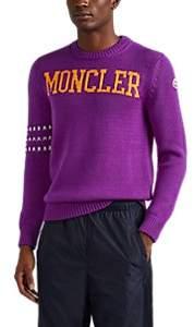 Moncler 2 1952 Men's Logo-Knit Wool Sweater - Purple