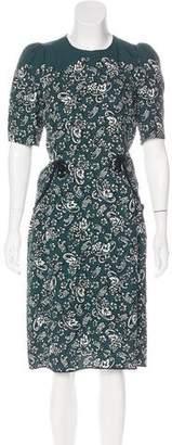 Marc Jacobs Short Sleeve Midi Dress