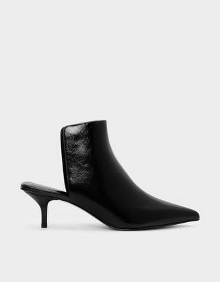 Charles & Keith Square Back Pointed Mules