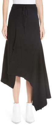 Marques Almeida Marques'Almeida Draped Wool Sweater Skirt
