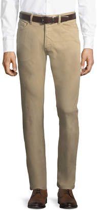 Ermenegildo Zegna Men's Cotton Canvas Straight-Leg Pants