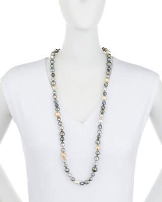 Belpearl Long Tahitian & South Sea Pearl Necklace, 9-14mm, 36""