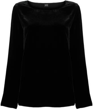 Aspesi long-sleeve velvet blouse