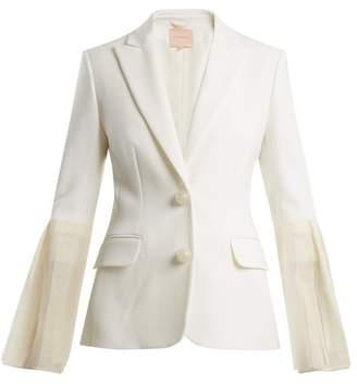Roksanda Alden Silk Blend Crepe Blazer - Womens - Ivory