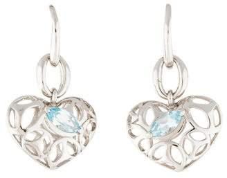 Di Modolo Blue Topaz Ricamo Drop Earrings