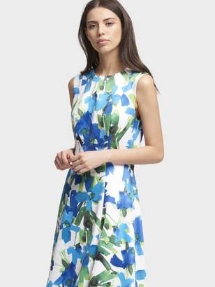 DKNY Printed Sleeveless Dress