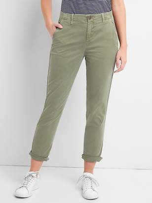 Gap Girlfriend Twill Stripe Khakis in Color