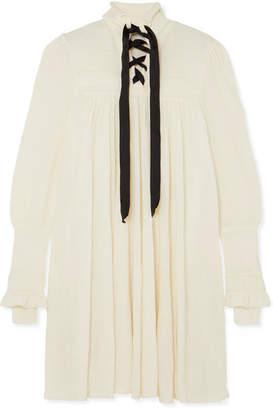 Philosophy di Lorenzo Serafini Lace-up Knitted Dress - White
