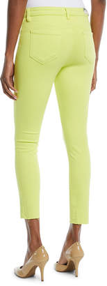 L'Agence Margot High-Rise Skinny Jeans w/ Unfinished Hem
