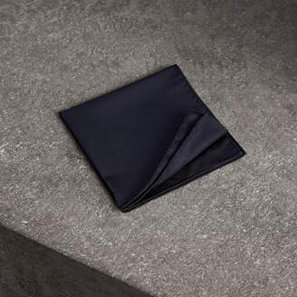 Burberry Silk Pocket Square, Black