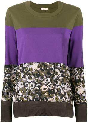 Marni mixed print top
