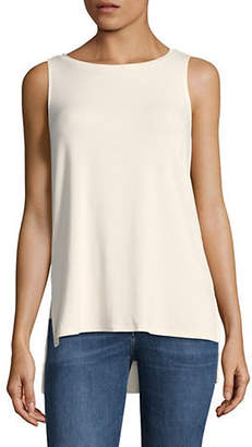 Halston H Split Hi-Lo Top