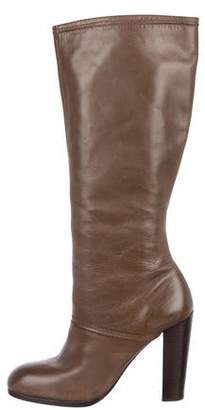 Elizabeth and James Leather High Heel Boots