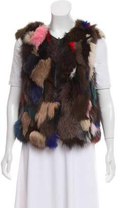 Alice + Olivia Zip-Up Fur Vest